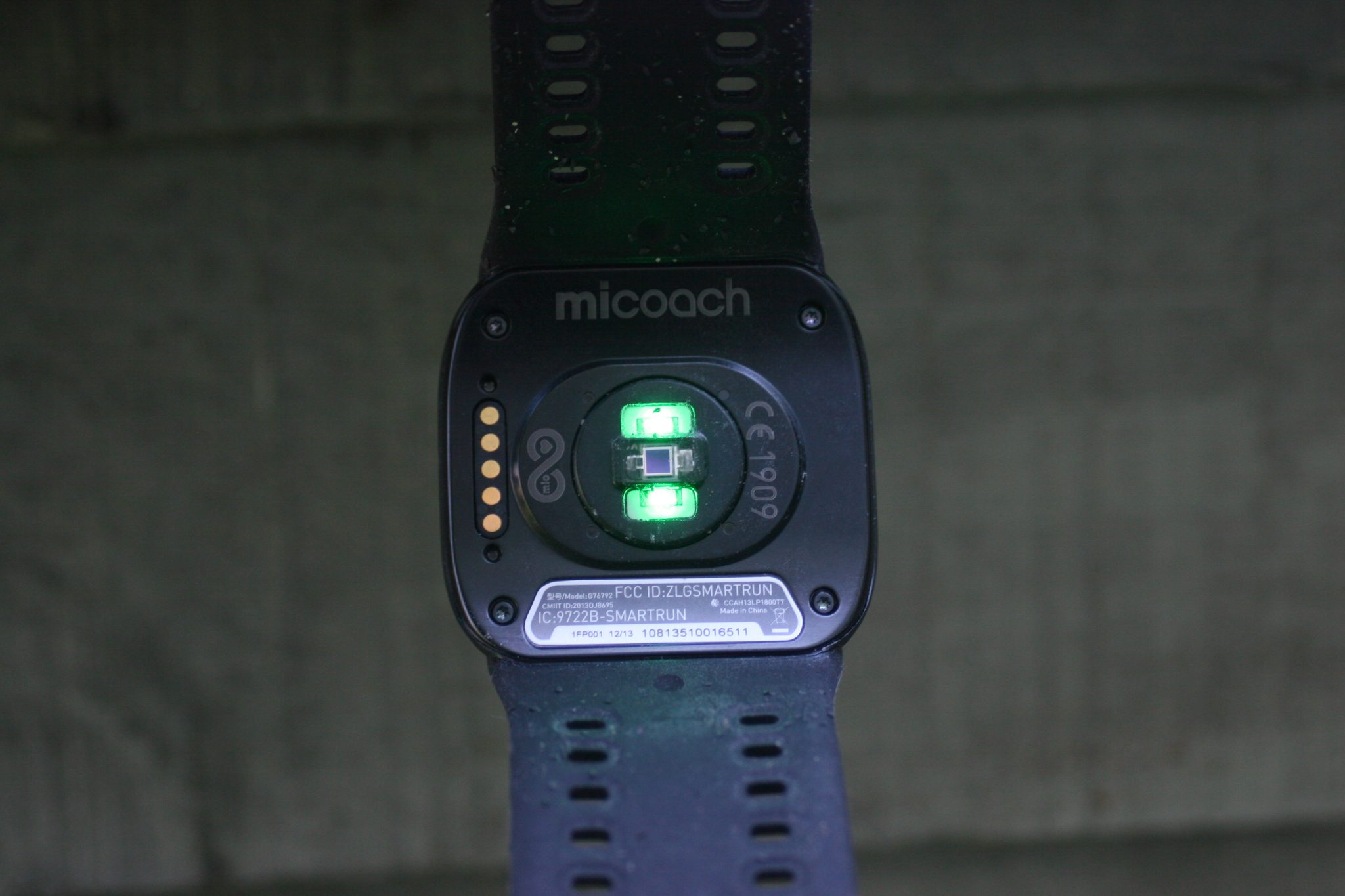 adidas micoach - note the separation of the two sensors