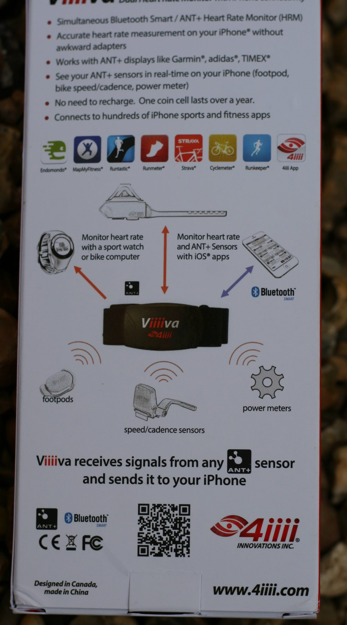 4iiii Viiiva V100 Heart Rate Monitor Bridge