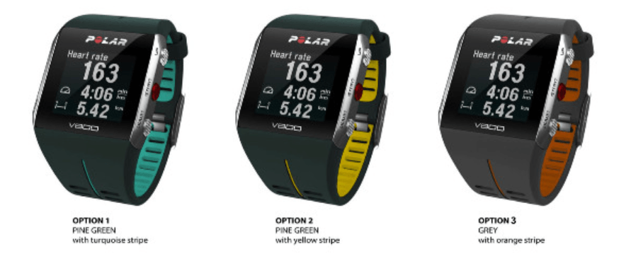 New Polar V800 Strap Colours