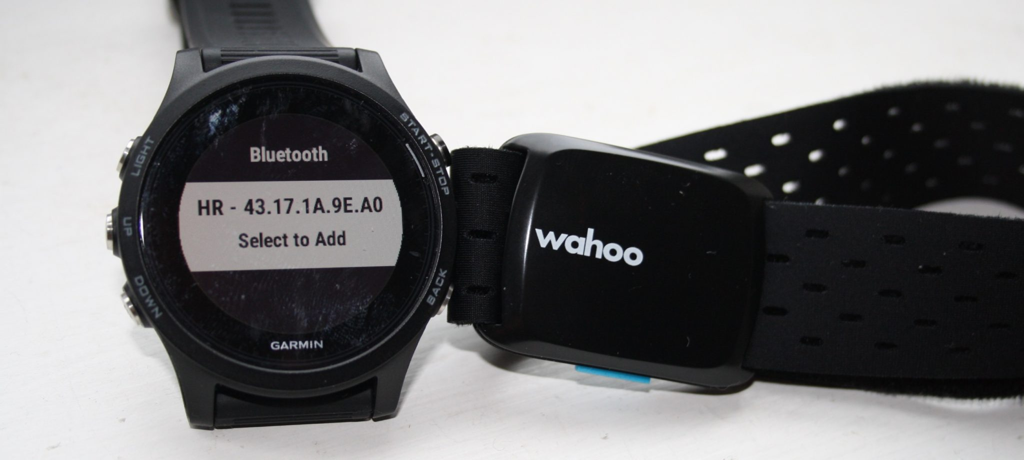 Garmin 935 Wahoo Tickr Fit