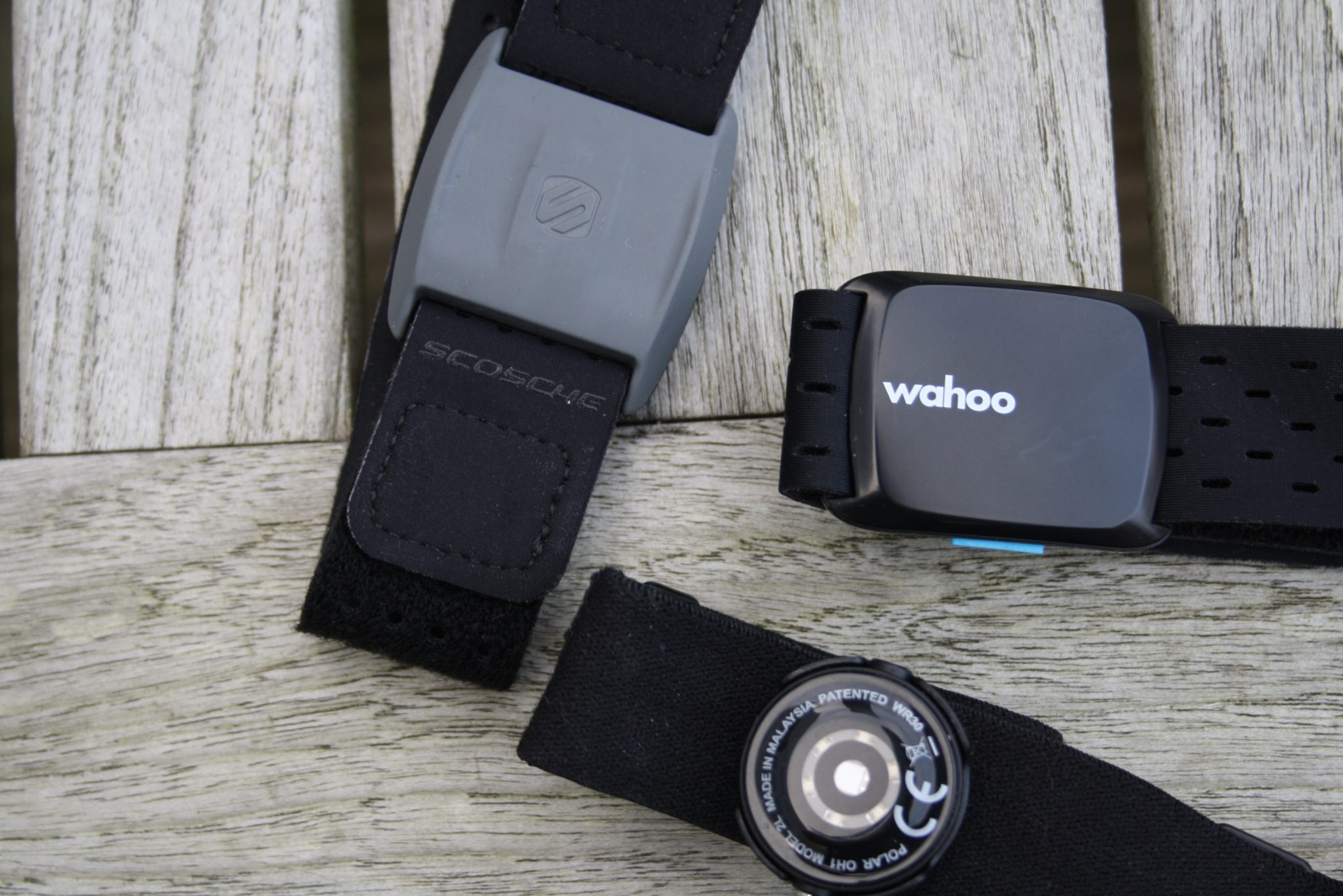 Wahoo Tickr Fit Review - Polar OH1Scosche Rhythm+
