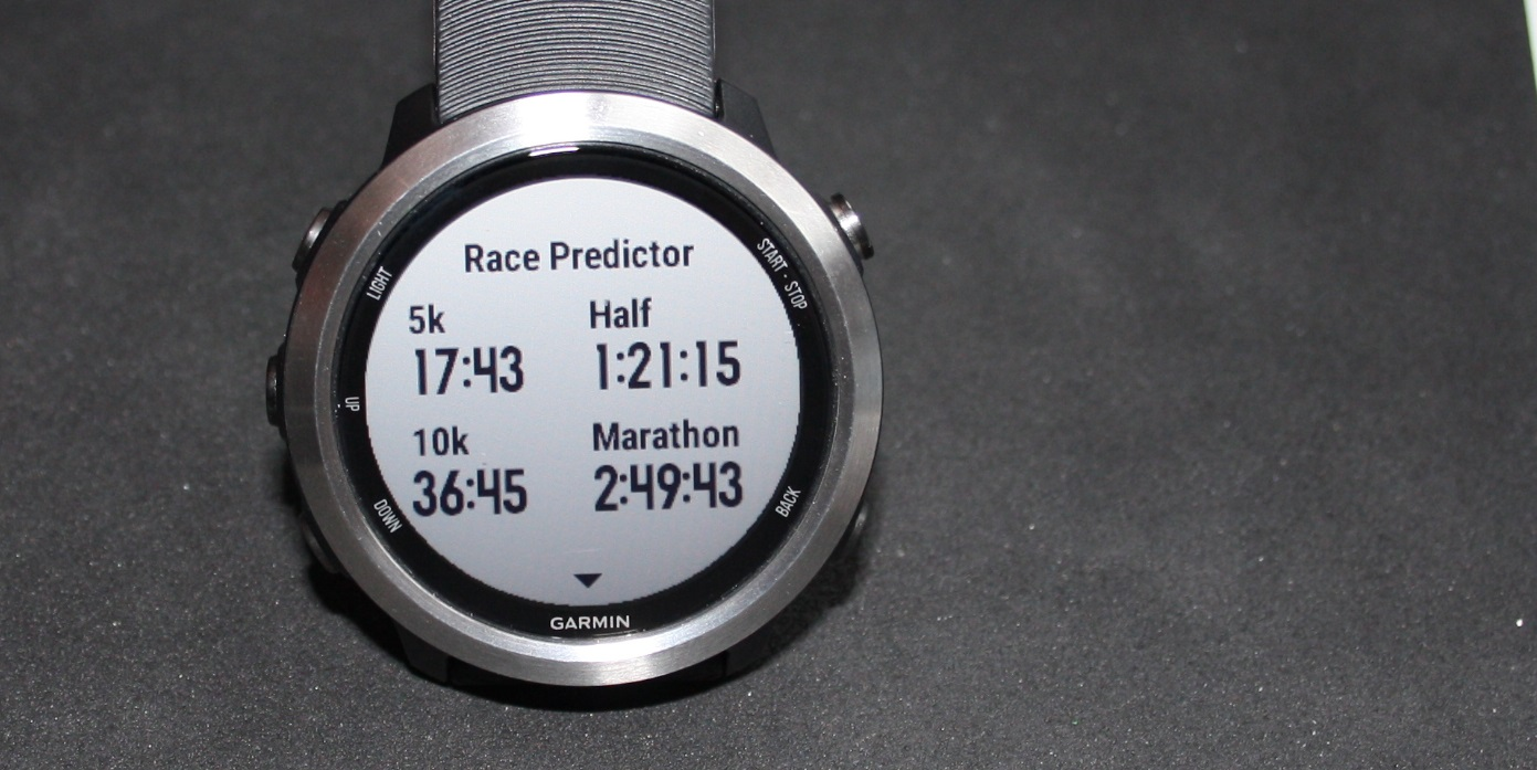 Race Predictor Forerunner 645