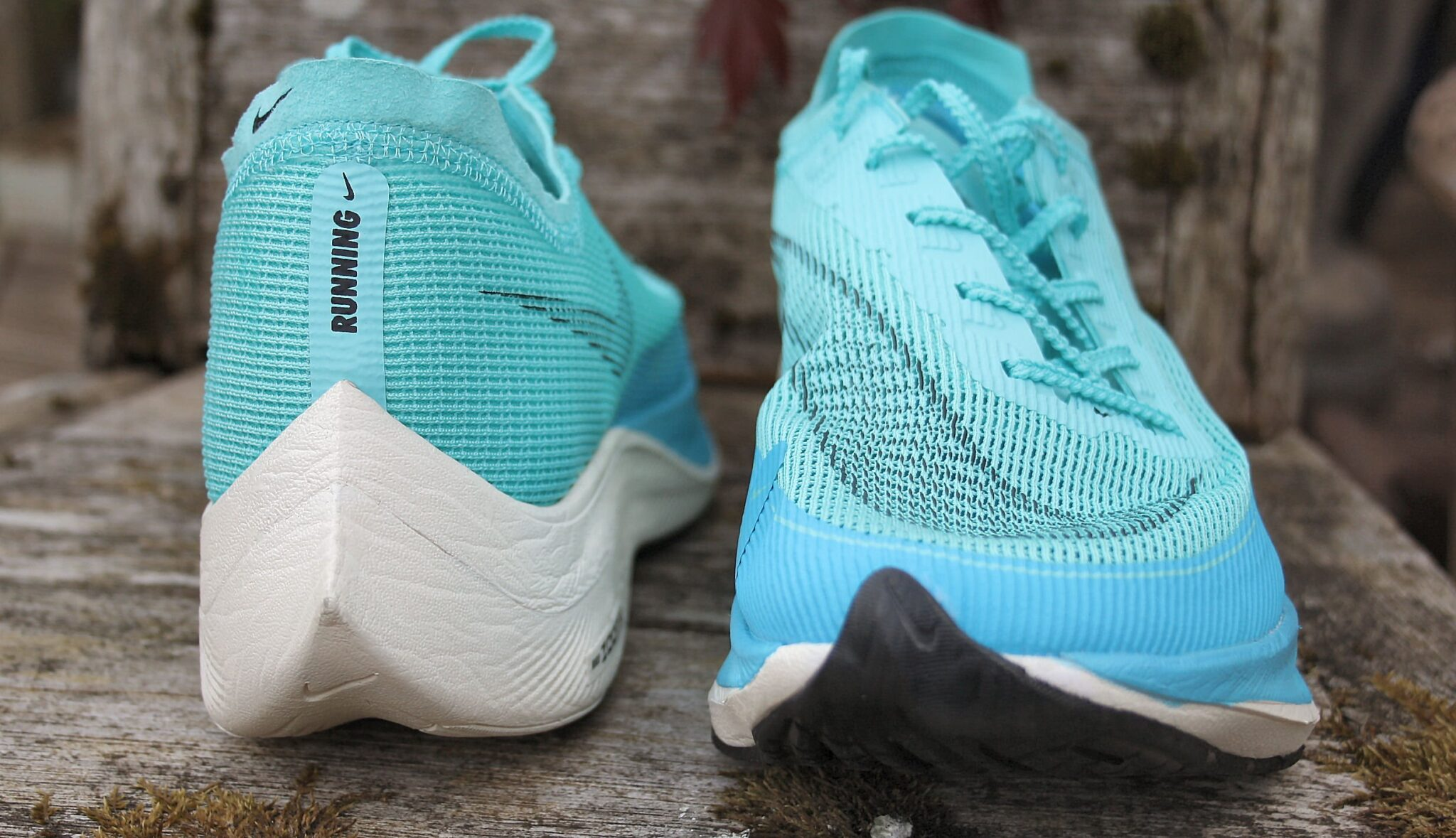 Nike ZoomX toe and heel view in the main part of the review for the Vaporfly Next% 2