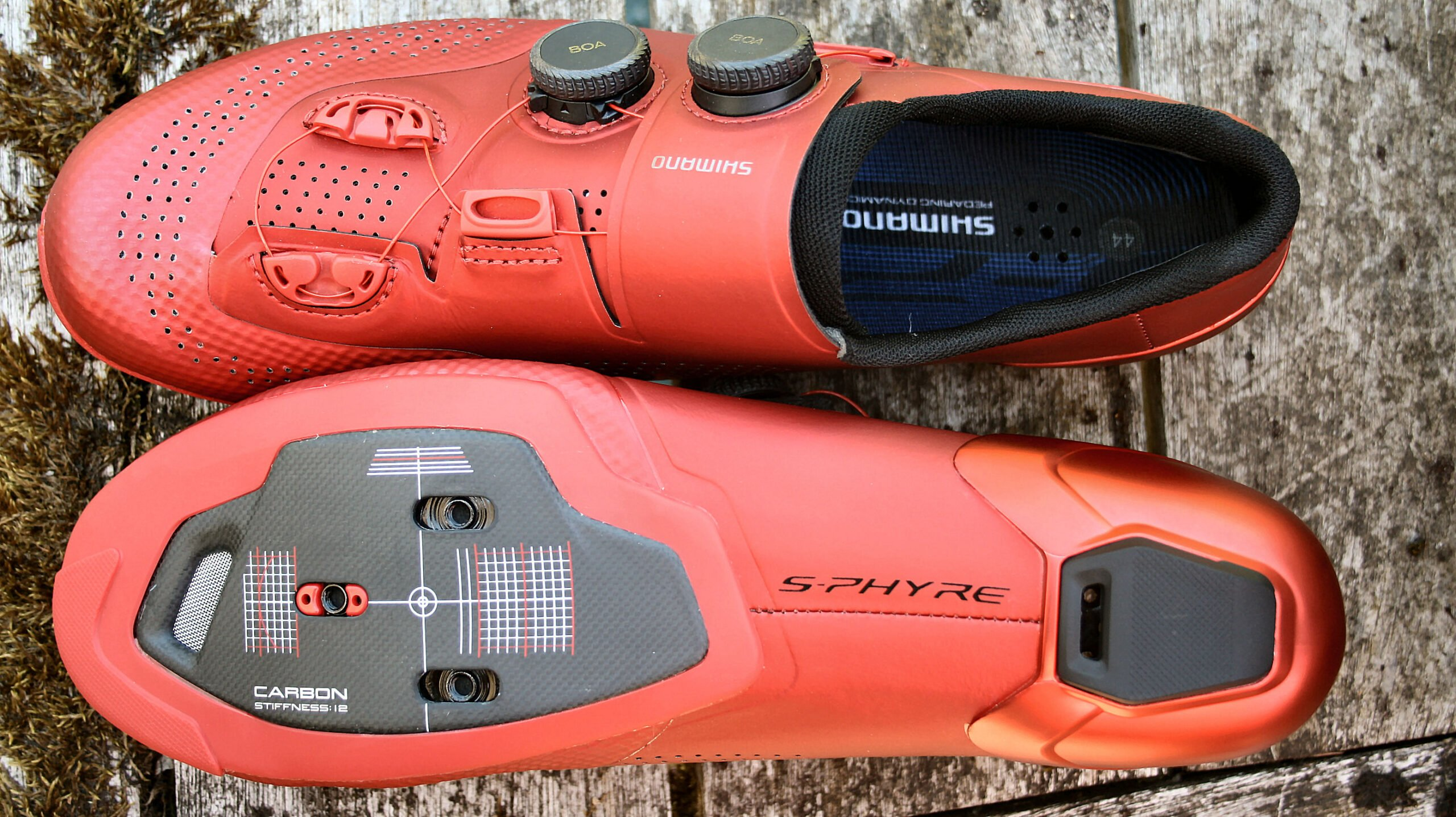 Shimano RC9 top bottom and cleat view Review, SH-RC902, RP9 Comparison